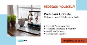 Redesign yourself – webinarii gratuite dedicate pasionatilor de sport si de o viata sanatoasa